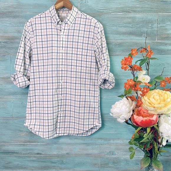 J.Crew Check Plaid 2-Ply 100% Cotton LS Shirt